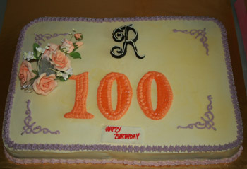 the 100th Birthday Cake
